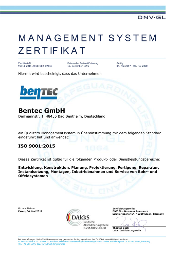 Company - Certification